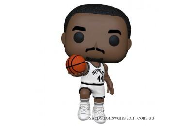 NBA Legends George Gervin (Spurs Home) Pop! Vinyl Figure Clearance Sale