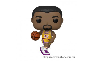 NBA Legends Magic Johnson Lakers Home Jersey Funko Pop! Vinyl Clearance Sale