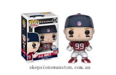 NFL J.J. Watt Wave 3 Funko Pop! Vinyl Clearance Sale