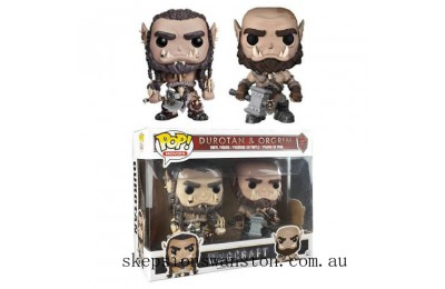 Warcraft Durotan & Ogrim EXC Funko Pop! Vinyl 2-Pack Clearance Sale