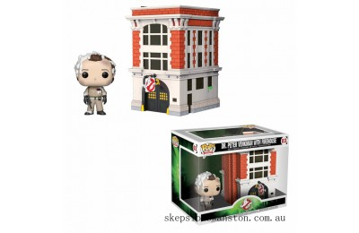 Ghostbusters Peter with Firehouse Funko Pop! Town Clearance Sale