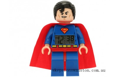 Discounted Lego® DC Comics™ Super Heroes Superman™ Minifigure Clock