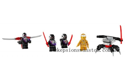 Genuine Lego Golden Zane MF Acc. Set