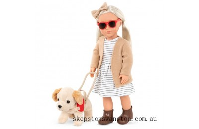 Genuine Our Generation Marlow Doll and Guide Dog