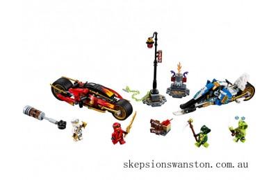 Hot Sale Lego Kai's Blade Cycle & Zane's Snowmobile