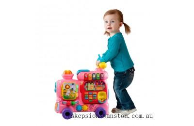 Genuine VTech Push and Ride Alphabet Train Pink