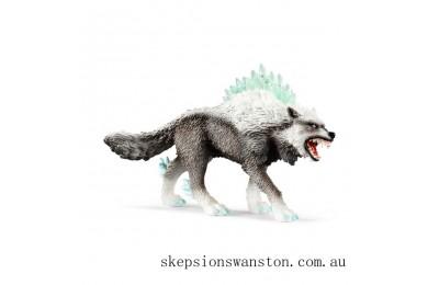 Genuine Schleich Eldrador Snow Wolf
