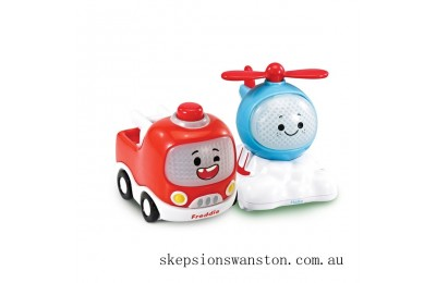 Outlet Sale Vtech Toot-Toot Cory Carson Freddie & Halle Mini Duo Vehicle