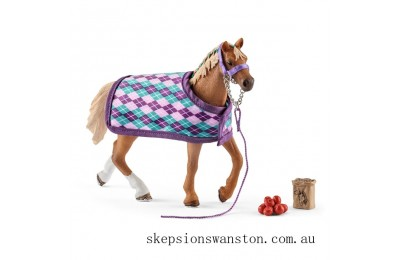 Genuine Schleich English Thoroughbred with Blanket