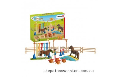 Outlet Sale Schleich Pony agility training