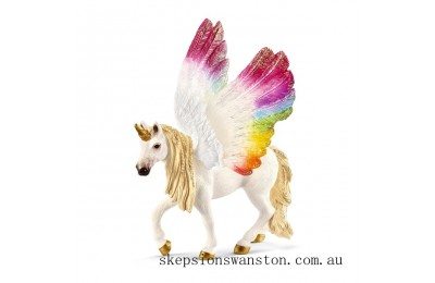 Clearance Schleich Winged Rainbow Unicorn