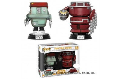 Star Wars: Solo - Fighting Droids EXC Funko Pop! Vinyl 2-pack Clearance Sale