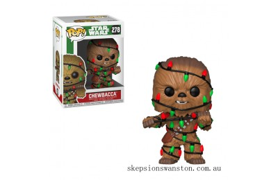Star Wars Holiday - Chewie w/Lights Funko Pop! Vinyl Clearance Sale