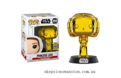 Star Wars Princess Leia Gold Chrome SW19 EXC Funko Pop! Vinyl Clearance Sale