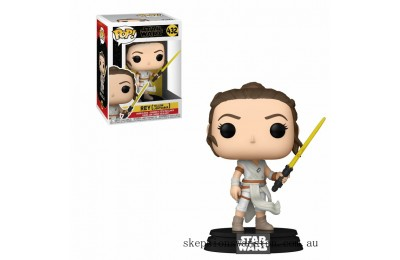 Star Wars The Rise of Skywalker Rey w/ Yellow Lightsaber Funko Pop Vinyl Clearance Sale