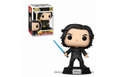 Star Wars The Rise of Skywalker Ben Solo w/ Blue Lightsaber Funko Pop Vinyl Clearance Sale