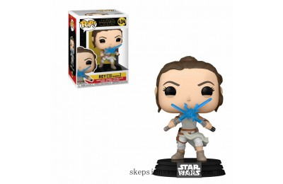 Star Wars The Rise of Skywalker Rey w/ 2 Lightsabers Funko Pop Vinyl Clearance Sale