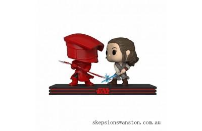 Star Wars The Last Jedi Rey & Praetorian Guard Funko Pop! Movie Moment Clearance Sale