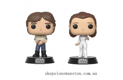 Star Wars Empire Strikes Back Han and Leia Funko Pop! Vinyl 2-Pack Clearance Sale