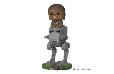 Star Wars Chewbacca in AT-ST Pop Deluxe Vinyl Figure Clearance Sale