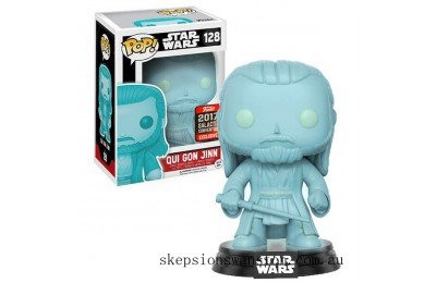 Star Wars Qui-Gon Jinn (Holographic Version) EXC Funko Pop! Vinyl Clearance Sale