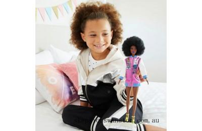 Hot Sale Barbie Fashionista Pink Letterman Jacket Doll