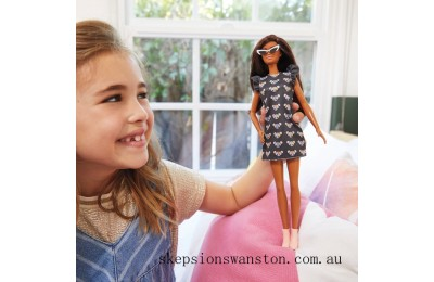 Outlet Sale Barbie Fashionista Doll 140 Mouse Print Dress