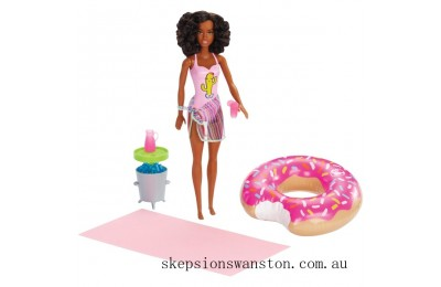 Genuine Barbie Pool Party Doll - Brunette