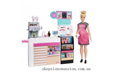 Clearance Barbie Coffee Shop Playset with Doll
