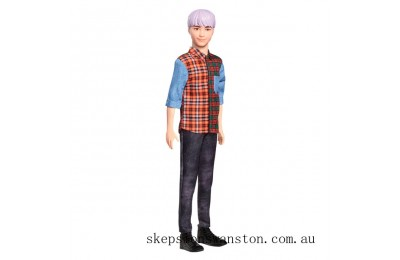 Discounted Ken Fashionistas Doll 154 Purple Hair
