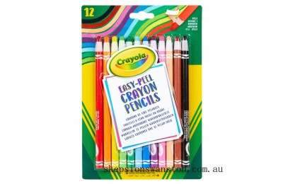 Outlet Sale Crayola 12 Easy Peel Crayon Pencils