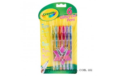 Discounted Crayola 6 Glitter Gel Pens
