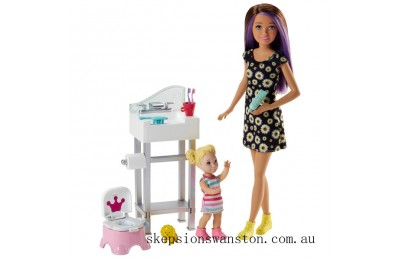 Hot Sale Barbie Skipper Babysitters Doll Potty Playset