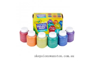 Hot Sale Crayola 6 Washable Glitter Paints