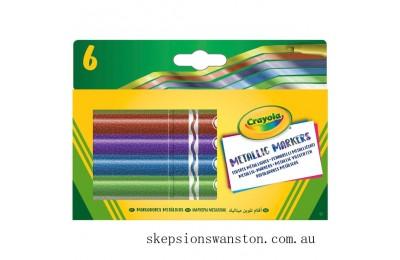 Clearance Crayola 6 Metallic Markers