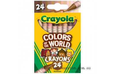 Hot Sale Crayola Colours of the World 24 Crayons