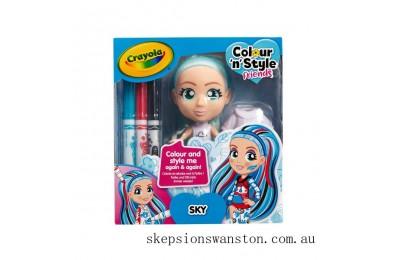 Genuine Crayola Colour n Style Friends - Sky