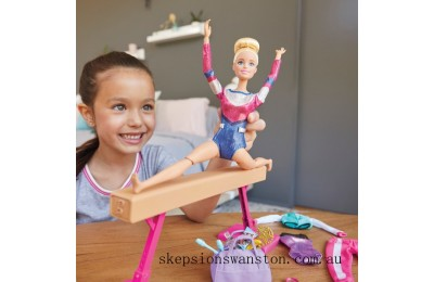 Hot Sale Barbie Gymnastics Playset with Doll and Accessories