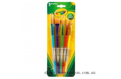 Hot Sale Crayola 5 Assorted Paintbrushes