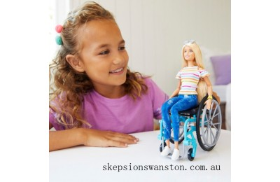 Clearance Barbie Fashionista Doll 132 Wheelchair with Ramp