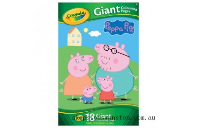 Genuine Crayola Peppa Pig Giant Colouring Pages Book