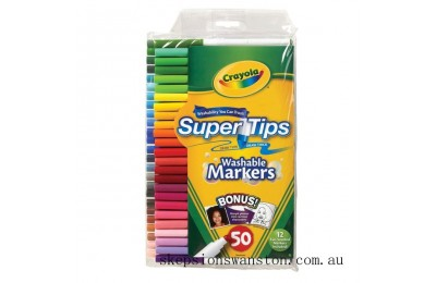 Hot Sale Crayola Super Tips 50 Washable Markers
