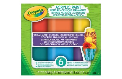 Discounted Crayola Acrylic Paint Ocean Sunset
