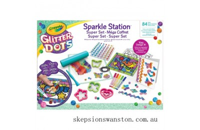 Clearance Crayola Glitter Dots Sparkle Station Super Set