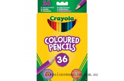 Genuine Crayola 36 Coloured Pencils