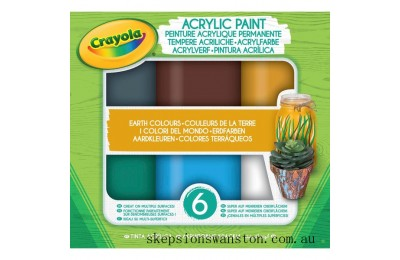 Hot Sale Crayola Acrylic Paint Earth Colours