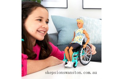 Genuine Barbie Ken Doll 167 with Wheelchair