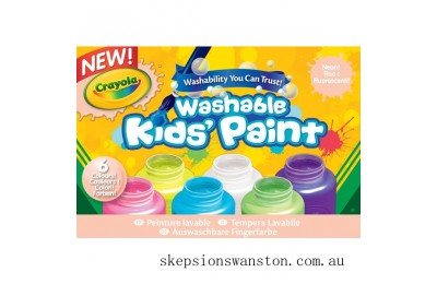 Clearance Crayola Neon Washable Paint 6 Pack