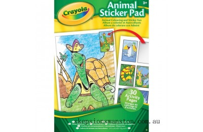 Discounted Crayola Animal & Activity Sticker Pads - Assortment