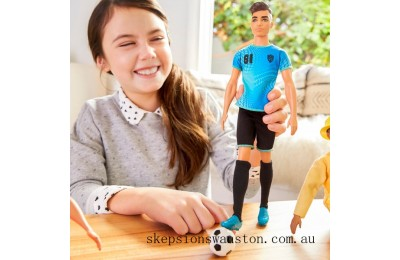 Discounted Barbie Careers Ken Doll Soccer Player